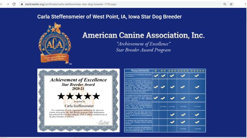 Carla, Steffensmeier, star, dog, breeder, Carla-Steffensmeier, dog-breeder, west, point, ia, iowa, west-point, golden, retrievers, shitz, tzu, puppy, mill, puppymill, usda, 42-A-1368, 42a368, inspection, records, kennel